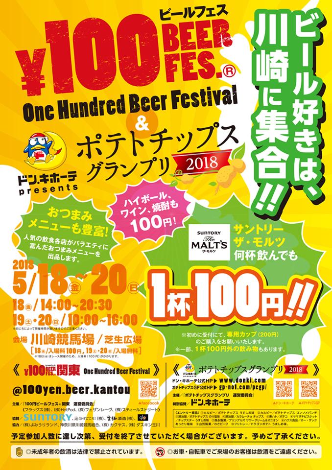 ビール好きは、川崎に集合!100円ビールフェス関東 in 川崎 &ポテトチップスグランプリ2018